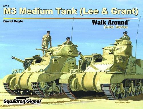 9780897475860: M3 Medium Tank (Lee & Grant) - Armor Walk Around Color Series No. 12