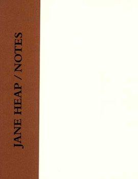 9780897560238: Jane Heap / Notes
