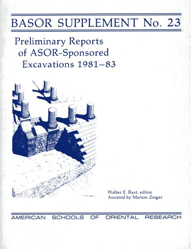 Preliminary Reports of ASOR-Sponsored Excavations 1981-83 (BULLETIN OF ASOR SUPPLEMENTS): Rast, ...