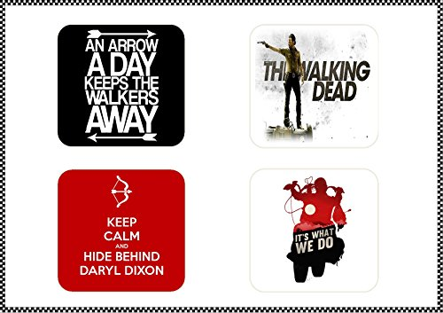 9780897633758: The Walking Dead Lot de 4dessous-de-verre Design Boisson/peut être Personnalisé