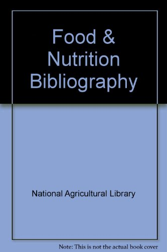 Food and Nutrition Bibliography: Slesinger, Susan