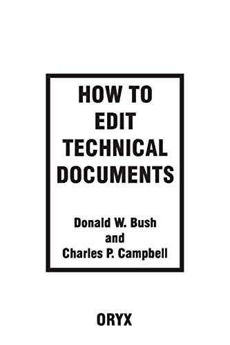 9780897748704: How to Edit Technical Documents: