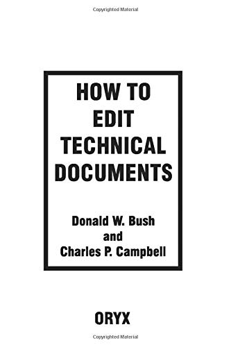 9780897749640: How to Edit Technical Documents: Workbook