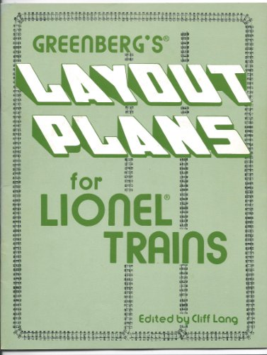 9780897781022: Greenberg's Layout Plans for Lionel Trains