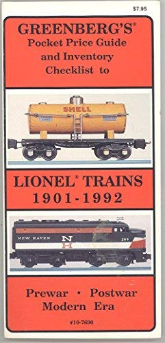 9780897782197: Greenberg's Pocket Price Guide and Inventory Checklist to Lionel Trains: 1901-1942 and 1945-1992