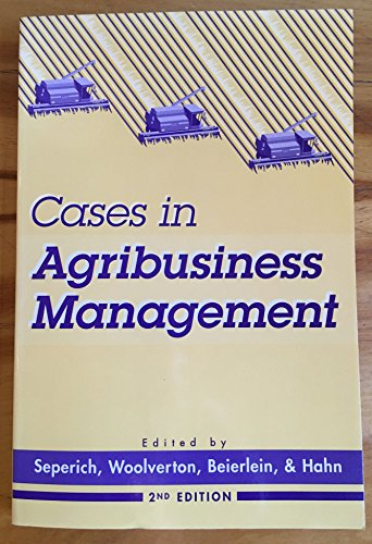 9780897871334: Cases in Agribusiness Management