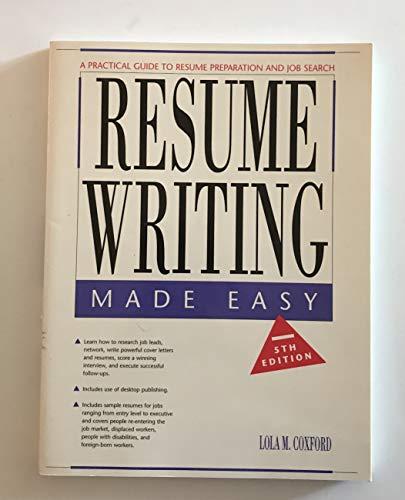 9780897878210: Resume writing made easy