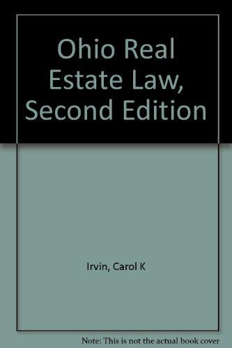 9780897879040: Ohio Real Estate Law, Second Edition