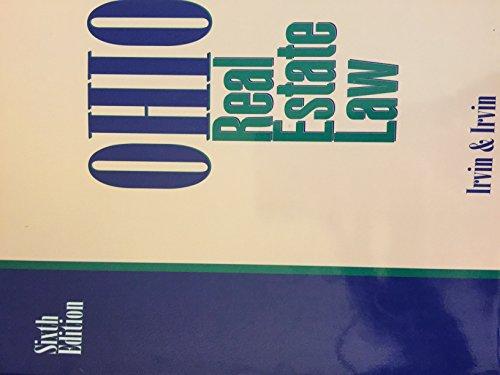 9780897879569: Ohio Real Estate Law, Sixth Edition