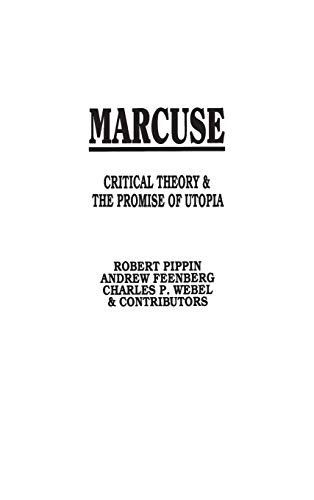 9780897891066: Marcuse: Critical Theory and the Promise of Utopia