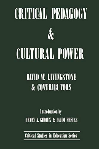 9780897891165: Critical Pedagogy and Cultural Power