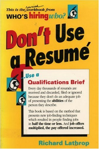 9780898150278: Don't Use a Resume