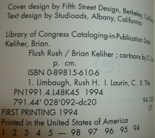 9780898156171: Flush Rush