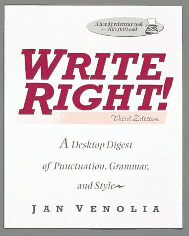 9780898156768: Write Right!: A Desktop Digest of Punctuation, Grammar, and Style