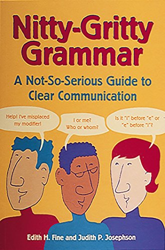 9780898159660: Nitty-Gritty Grammar: A Not-So-Serious Guide to Clear Communication: For People on the Go