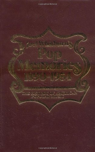 9780898200836: Pop Memories 1890-1954: The History of American Popular Music