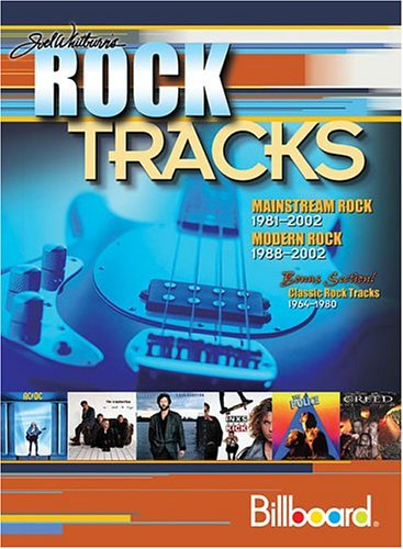 9780898201536: Joel Whitburn's Rock Tracks: Mainstream Rock 1981-2002, Modern Rock 1988-2002, Bonus Section! Classick Rock Tracks 1964-1980