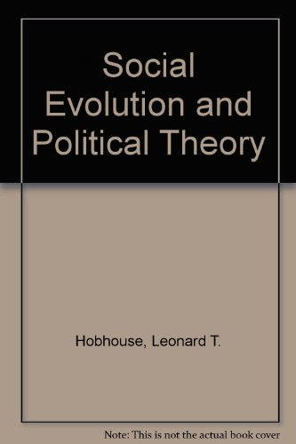 9780898240047: Social Evolution and Political Theory