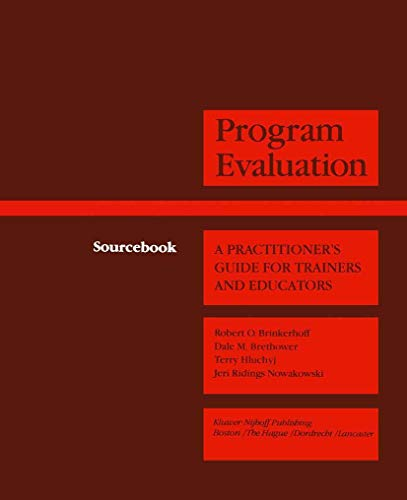 9780898381207: Programme Evaluation: Sourcebook: A Practitioner's Guide for Trainers and Educators (Evaluation in Education and Human Services)