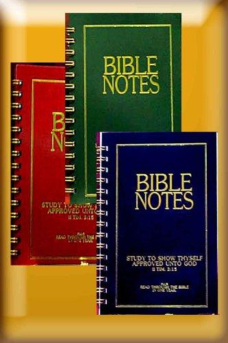 9780898411096: Bible Notes Notebook Value 3-Pak (Bible Study System, S200F 1092)