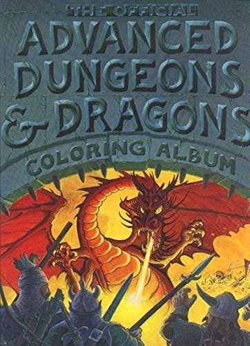 9780898440096: Official Advanced Dungeons and Dragons: Coloring Album