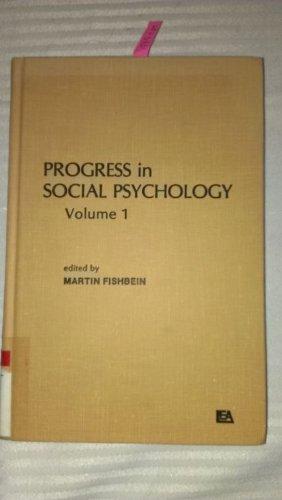 9780898590050: Progress in Social Psychology: Volume 1 (v. 1)