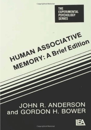 9780898590203: Human Associative Memory