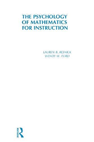 9780898590296: Psychology of Mathematics for Instruction