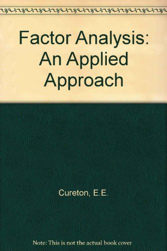 9780898590487: Factor Analysis: An Applied Approach