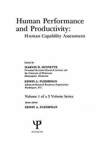 9780898590852: Human Performance and Productivity: Volumes 1, 2, and 3