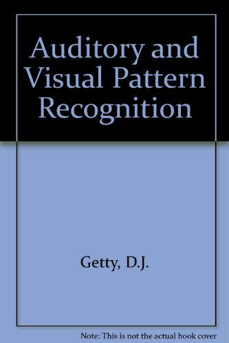 9780898590876: Auditory and Visual Pattern Recognition