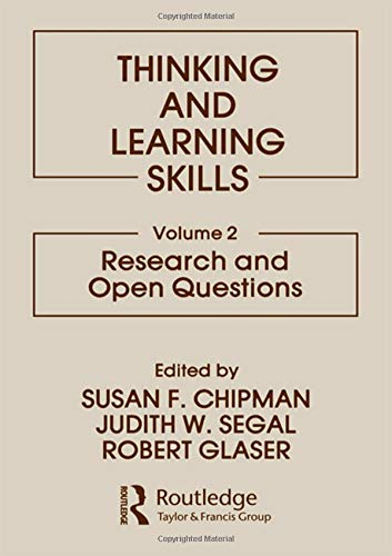 9780898591668: 002: Thinking and Learning Skills: Volume 2: Research and Open Questions: Research and Open Questions v. 2 (Psychology of Education and Instruction Series)