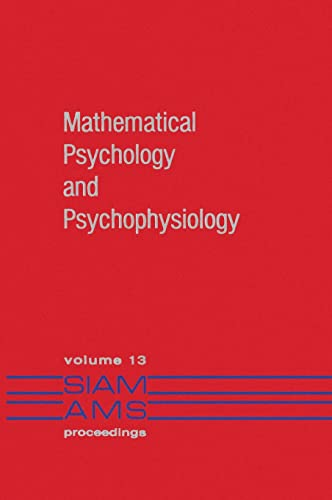 9780898591828: Mathematical Psychology and Psychophysiology