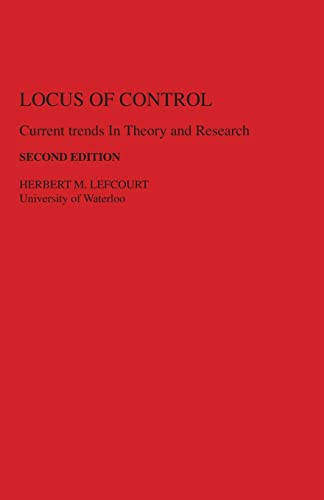 9780898592221: Locus of Control: Current Trends in Theory & Research
