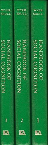 9780898593372: Handbook of Social Cognition (3 Vol. Set)