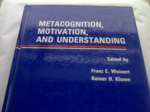 9780898595697: Metacognition, Motivation, and Understanding (Psychology of Education and Instruction Series)