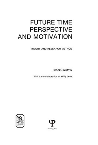 9780898596113: Future Time Perspective and Motivation: Theory and Research Method (Louvain psychology series studia psychologica)