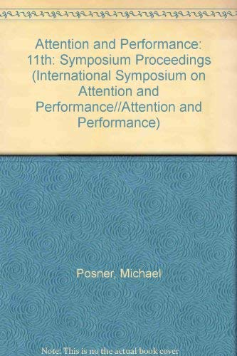 9780898596397: Attention and Performance XI
