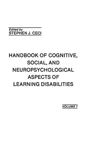 9780898596823: 001: Handbook of Cognitive, Social, and Neuropsychological Aspects of Learning Disabilities: Volume I