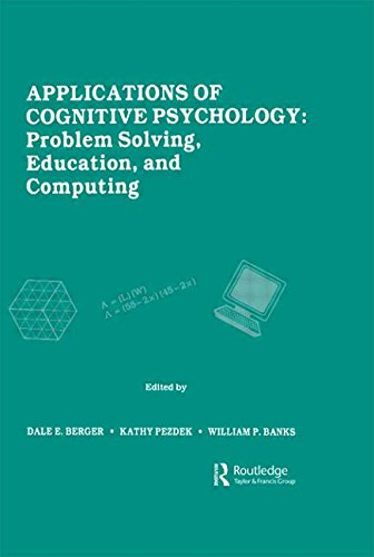 9780898597103: Applications of Cognitive Psychology: Problem Solving, Education, and Computing