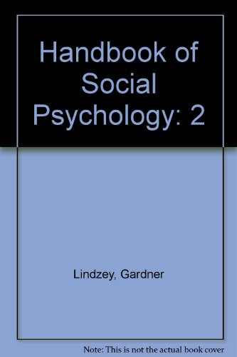 9780898597196: Handbook of Social Psychology, Vol. II: Special Fields and Applications (Third Edition)