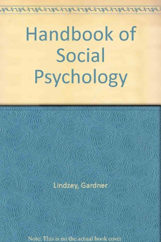 9780898597202: Handbook of Social Psychology