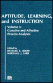 9780898597219: Aptitude, Learning, and Instruction: Volume 3: Cognitive and Affective Process Analyses
