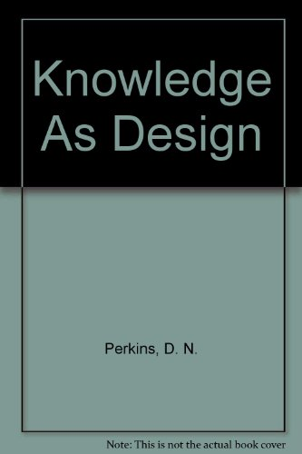 9780898598391: Knowledge As Design