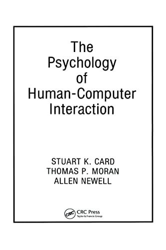 9780898598599: The Psychology of Human-Computer Interaction