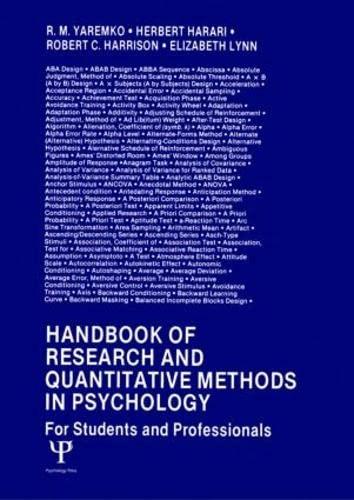 Handbook of Research and Quantitative Methods in: Yaremko, R.M.; Harari,