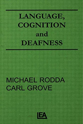 9780898598773: Language, Cognition, and Deafness