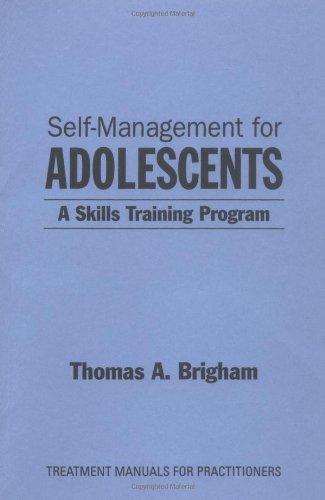 9780898622027: Self-Management for Adolescents: A Skills-Training Program