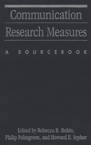 9780898622911: Communication Research Measures: A Sourcebook