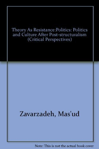 9780898624144: Theory as Resistance: Politics and Culture after (Post)structuralism